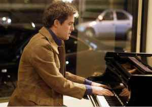 Hugh Grant composing the 2014 Christmas No 1